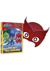 Dvd+Maschera Pj Masks - Super Pigiamini Pronti All'Azione! (Gufetta Edition)