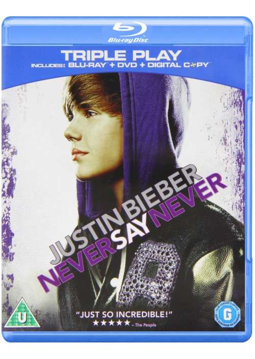 Blu-Ray+Dvd Justin Bieber - Never Say Never Triple Play