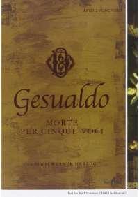 Carlo Gesualdo - Morte Per Cinque Voci / Death For Five Voices