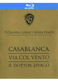Casablanca / Via Col Vento / Il Dottor Zivago (3 Blu-Ray)